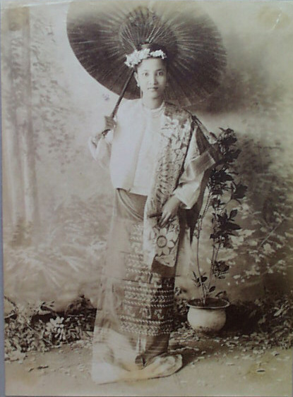 The Belle of Mandalay, Felice Beato, c. 1889; Albumen Print; Image: 265 x 195 mm; Framed: 15 ½ x 13 in.; The Alkazi Collection of Photography